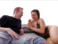 Hot and arousing crude ill-lit comprehensive Belladonna enjoys back showing