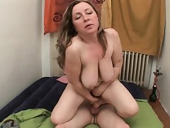 Mom makes sure she gets her new cum